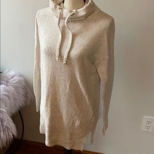 Cowl-Neck Long Sweater